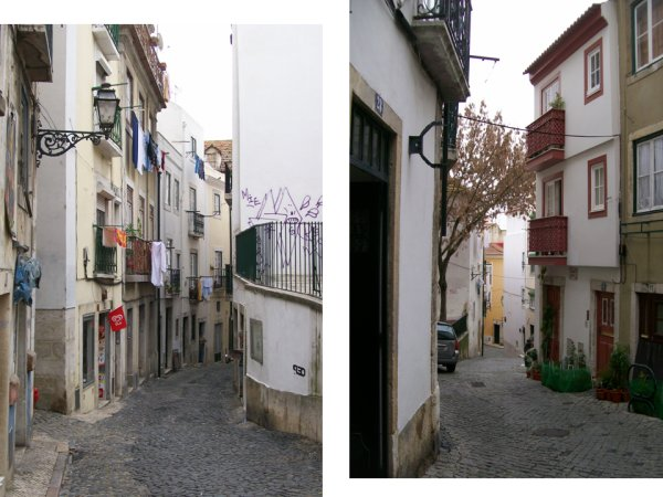 picture of Lisbon alleys